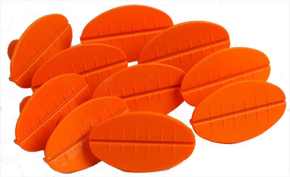 Orange Oval Glue Tabs (JOO) (Made in The Netherlands)