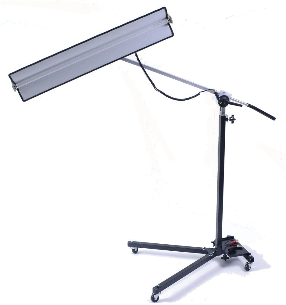 "Lightweight Reverse Curvature 12-Volt Light Stand with 36"" Fixture [L-TS-12V] (Made in USA)"