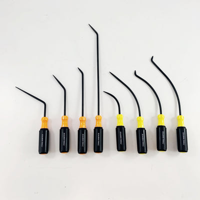 "The Xcalibur 1/4"" diameter 8 Piece Shaft Pick Set contains is designed for finishing."