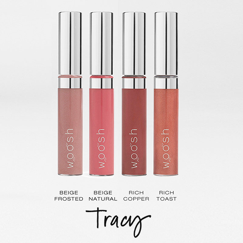 the Tracy bundle that includes the following shades: beige frosted, beige natural, rich copper, rich toast