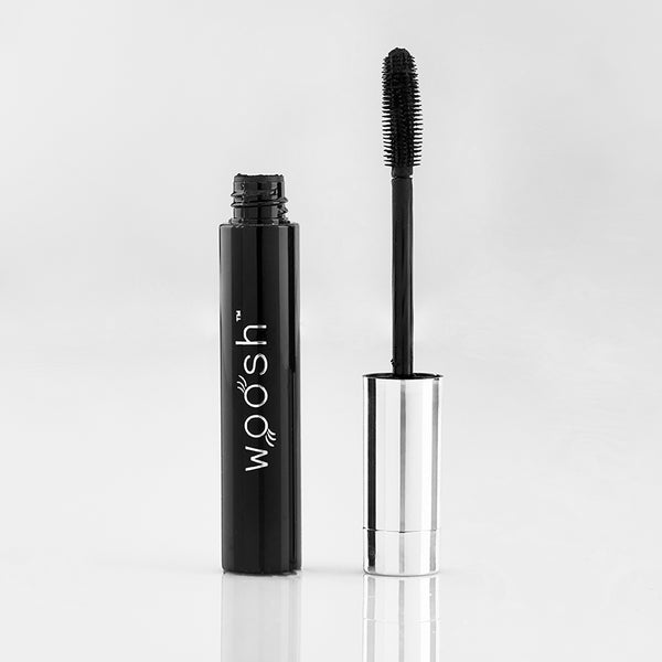 Flex and curl mascara out of tube showing wand