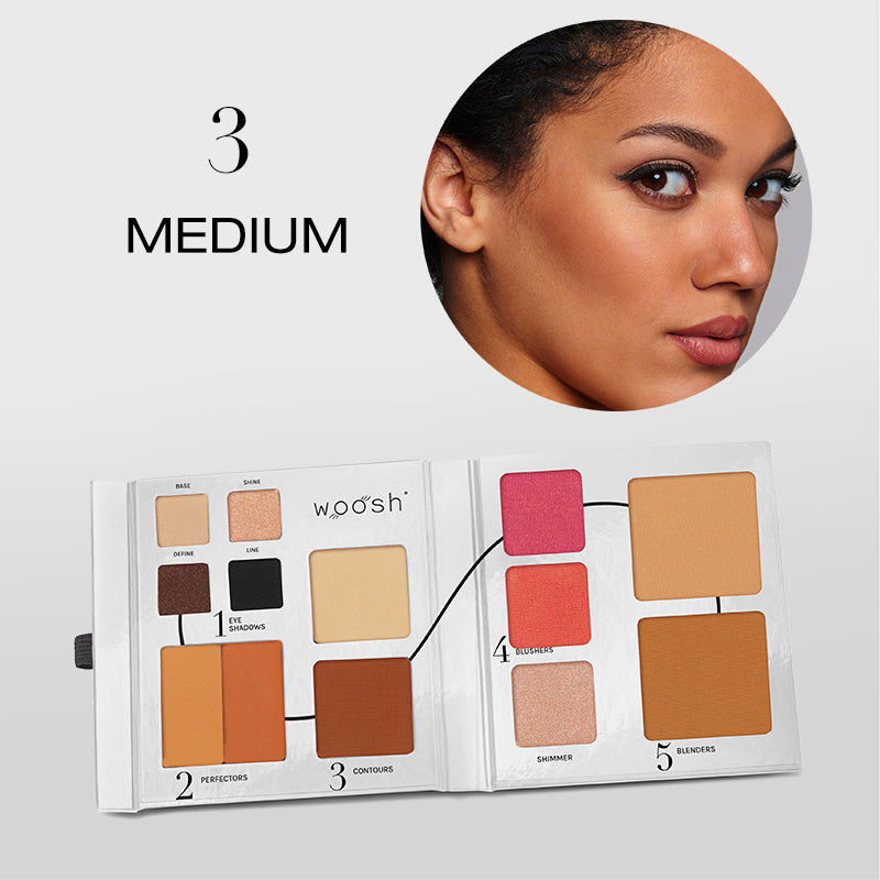 Fold Out Face palette opened shade #3 medium