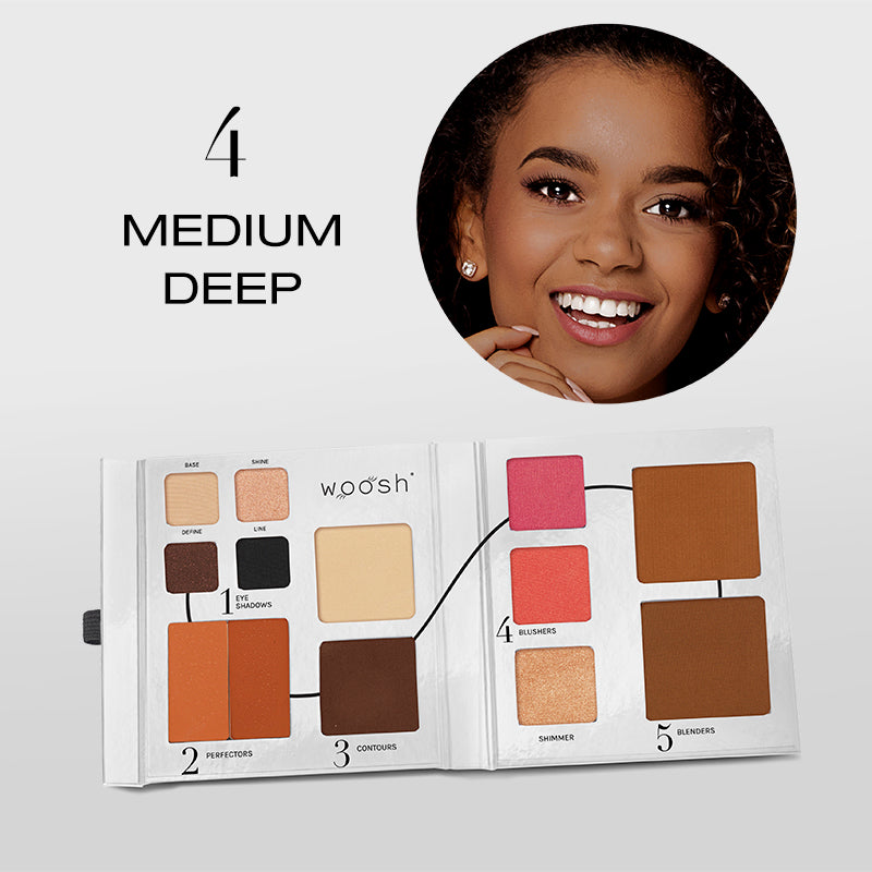 Fold Out Face palette opened shade #4 medium deep