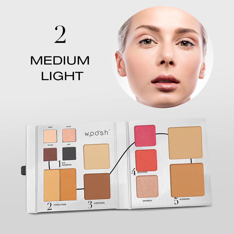 Fold Out Face palette opened shade #2 medium light