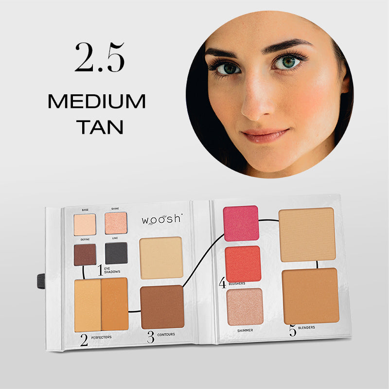 Fold Out Face palette opened shade #2.5 medium tan