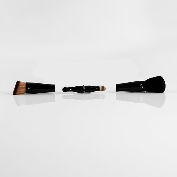 4 brushes in 1.  Perfect for travel