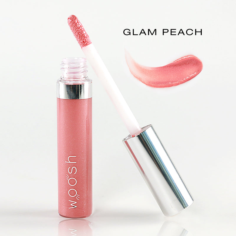 spin on lip gloss in shade glam peach