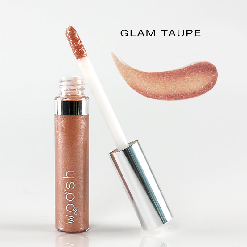 spin on lip gloss in shade glam taupe