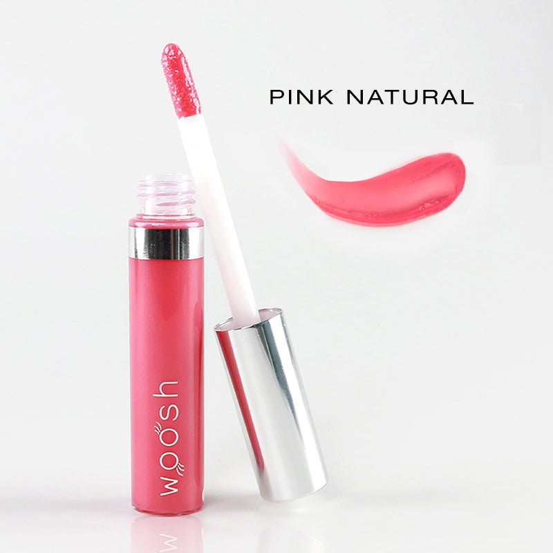 spin on lip gloss in shade pink natural