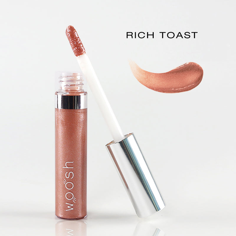 spin on lip gloss in shade rich toast