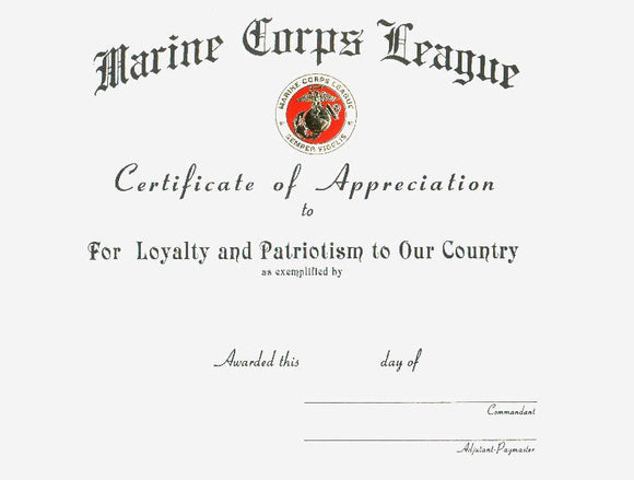 Certificate Of Appreciation~LOYALTY
