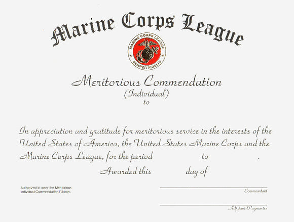 Meritorious Commendation - Individual