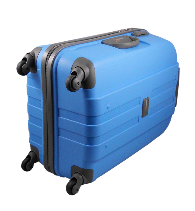 LuggageX 77cm Blue Hard Shell Suitcase