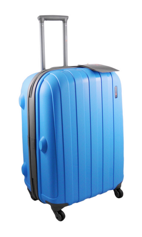 Hard Shell Luggage Case made with High Impact Resistant Virtually Indestructible Material. 4 Spinner Wheels. TSA Combination Lock. Heavy Duty External Zips.