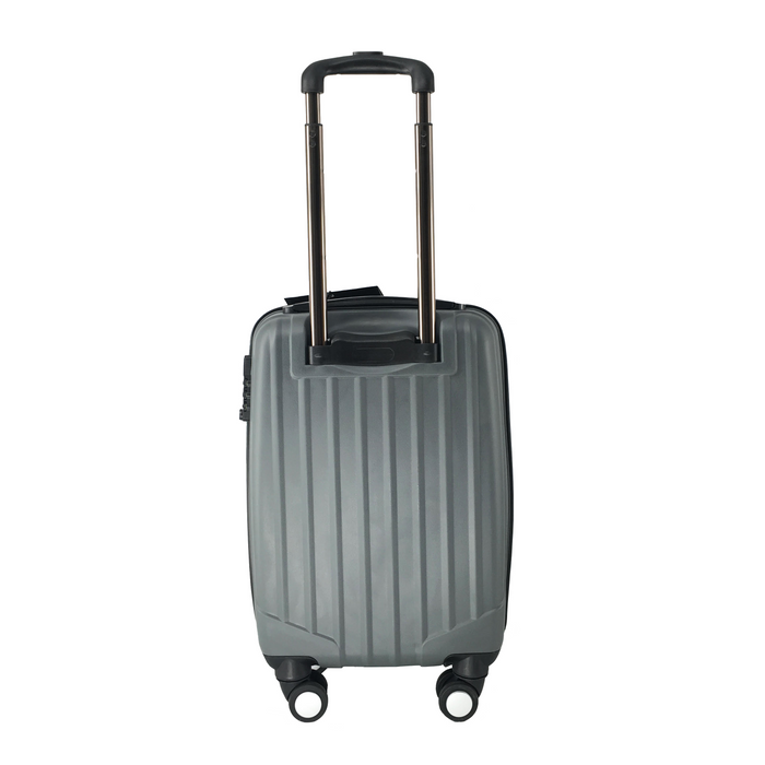 Silver Grey LuggageX Slimline Cabin Case