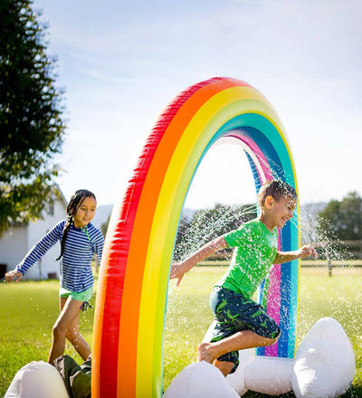 Rainbow Cloud Sprinkler Float