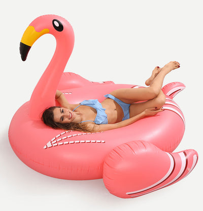 Yellow Beak Flamingo Float