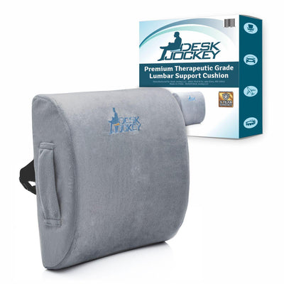 Memory Foam Lumbar Support Cushion with Plush Casing