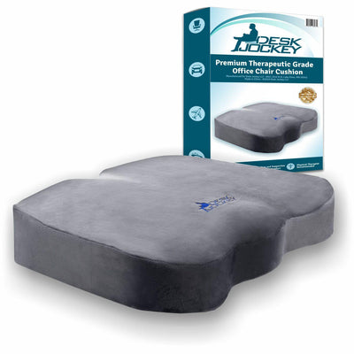 Memory Foam Office Chair Seat Cushion with Plush Casing