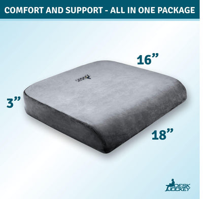 Memory Foam Extra Large Seat Cushion with Plush Casing
