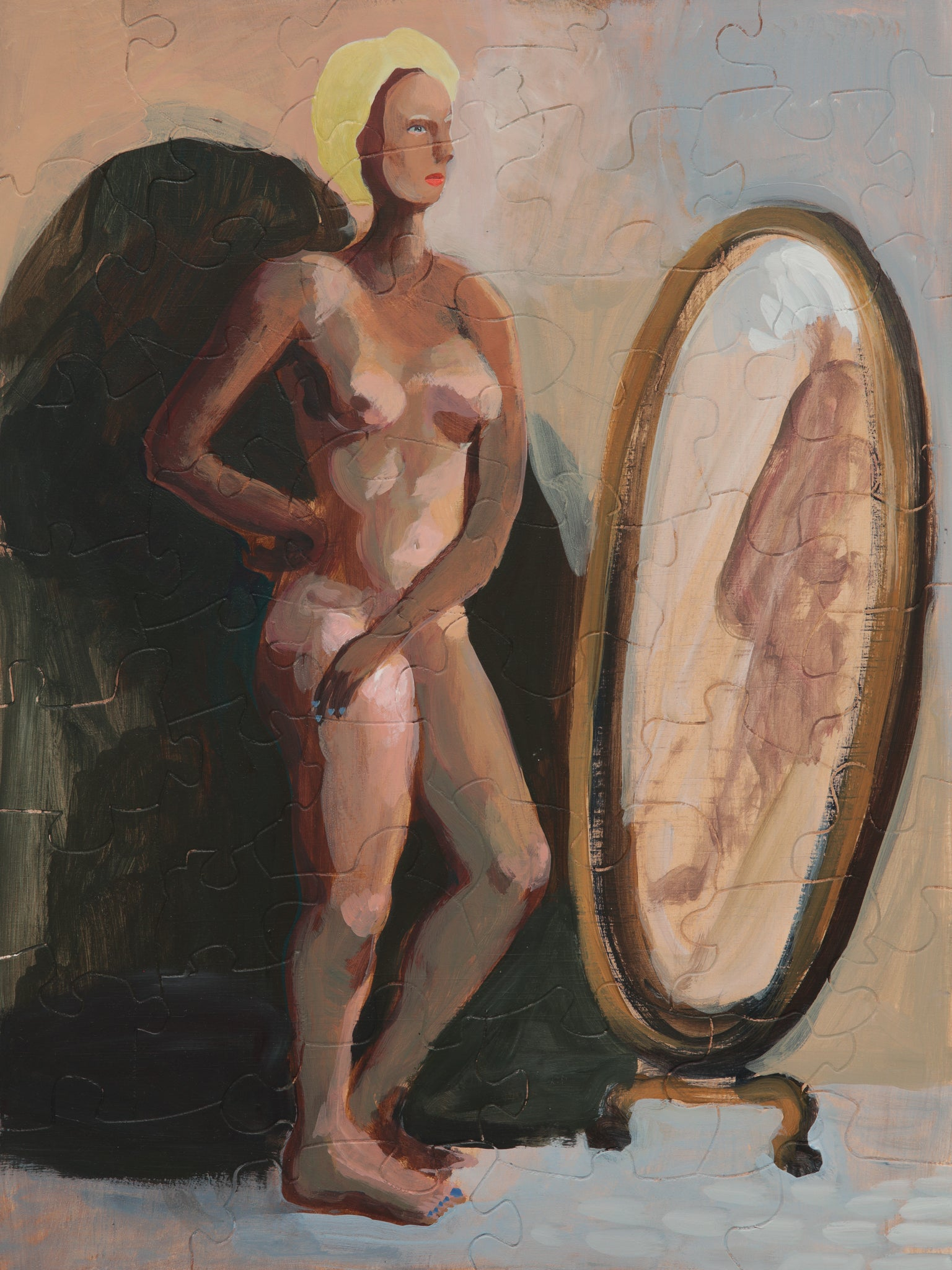 PUZZLE 256 - WOMAN EXAMINING HER REFLECTION