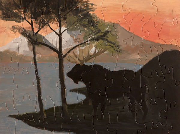 PUZZLE 280 - MOOSE AT THE WATER'S EDGE