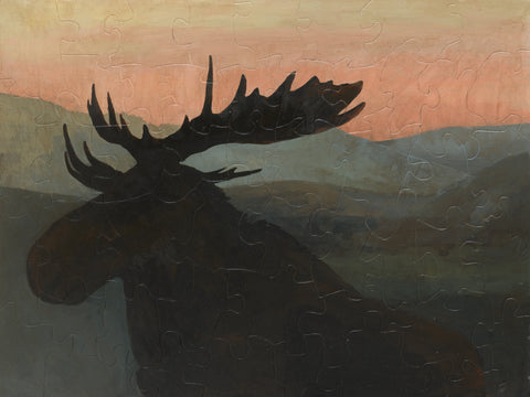 PUZZLE 331 - MOOSE AT DUSK