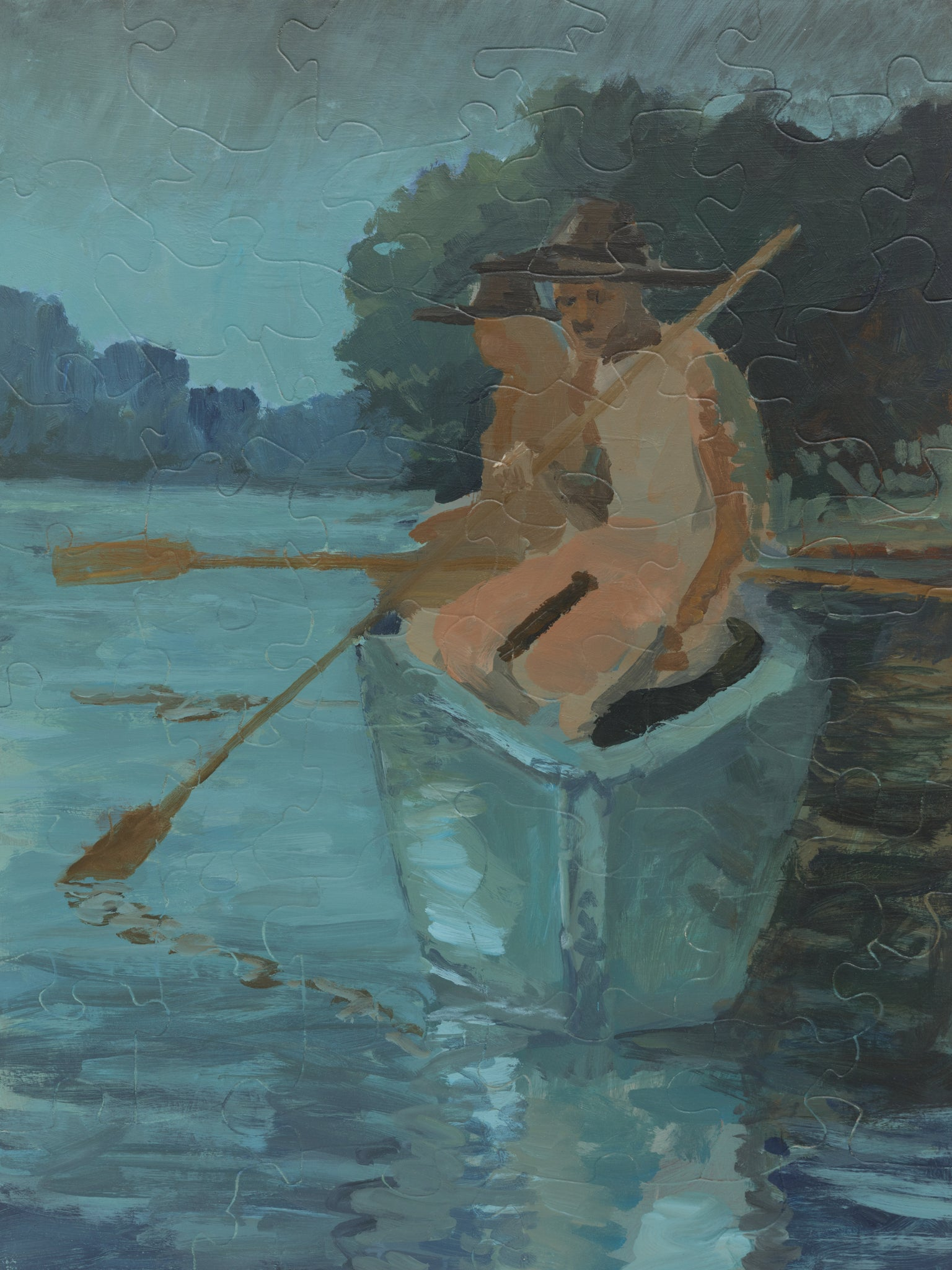 PUZZLE 338 - ROWERS AT TWILIGHT