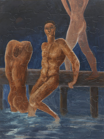 PUZZLE 348 - MOONLIT BATHERS