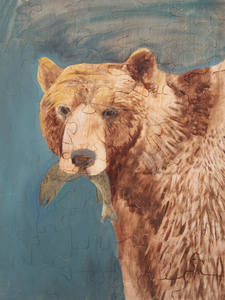 PUZZLE 391 - BEAR WITH FISH