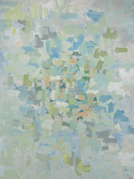 PUZZLE 402 - ABSTRACT - SAGE AND SKY BLUE