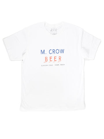 GLACIER COLD M. CROW BEER TEE