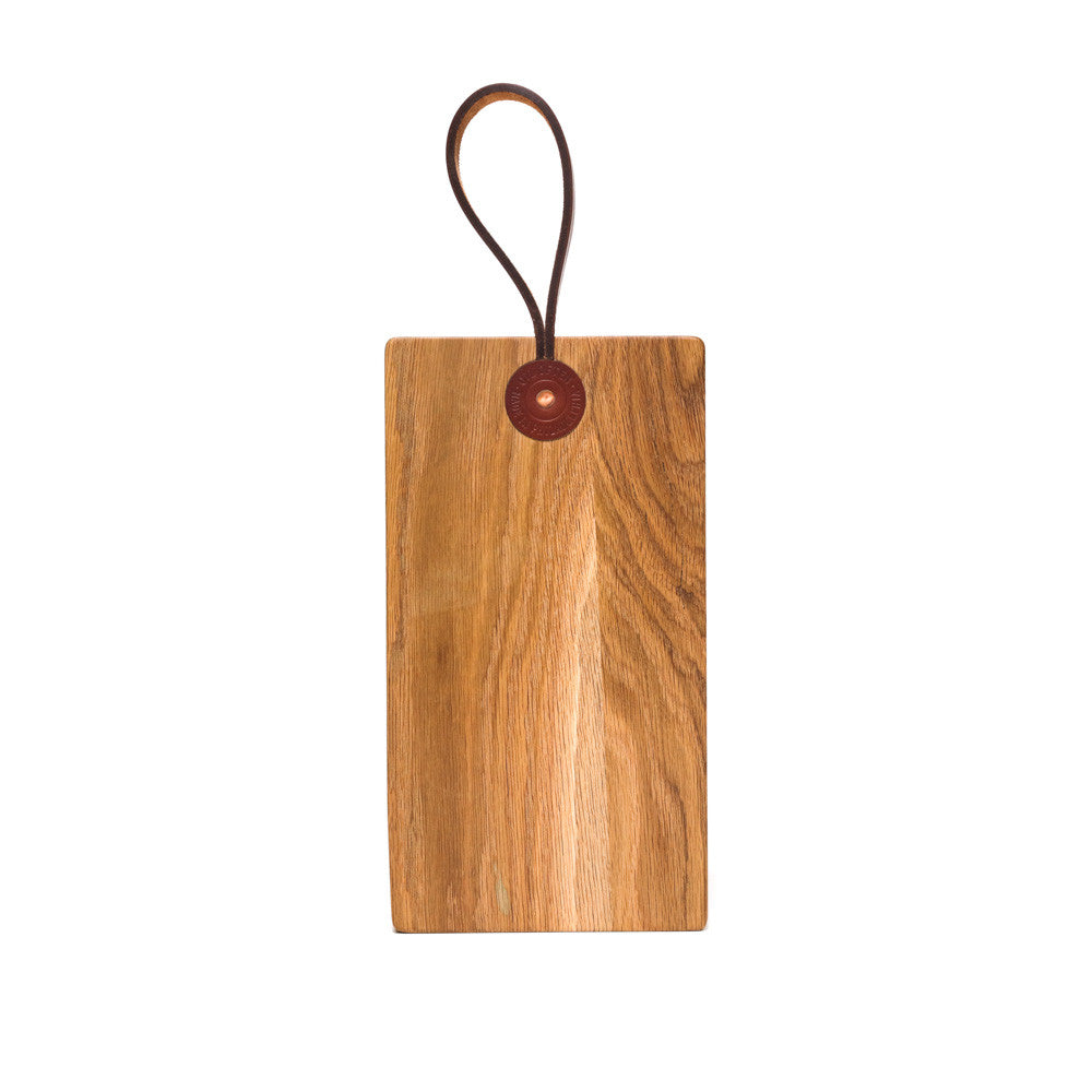 LEATHER STRAP CUTTING BOARD -  WHITE OAK