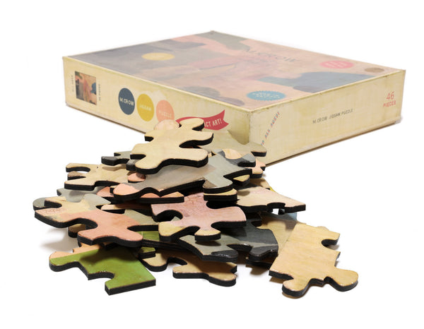 PUZZLE 425 - ABSTRACT - BROWN, WHITE, AND BLUE