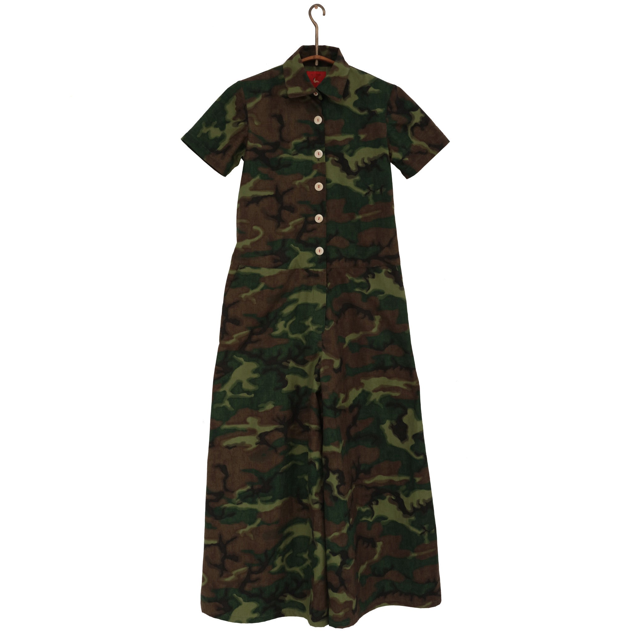 SHORT SLEEVE COVERALL - CAMO