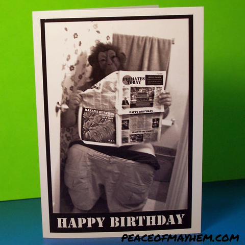 Go Ape Shit! Birthday Card