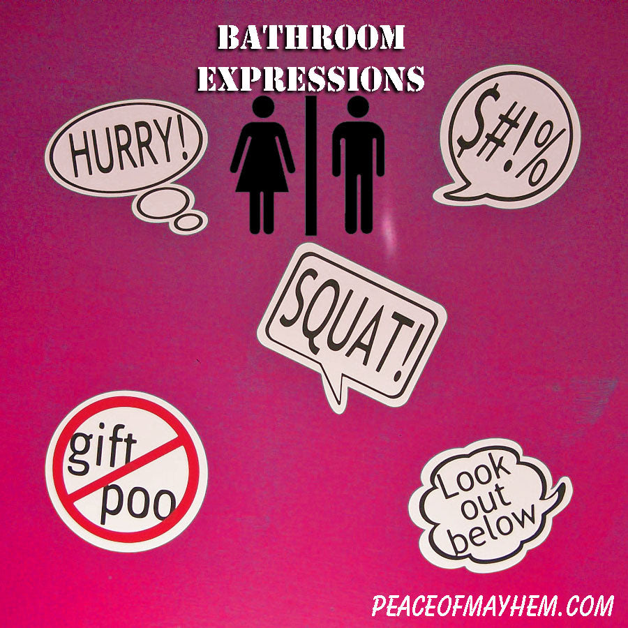 Bathroom Expressions No Gift Poo