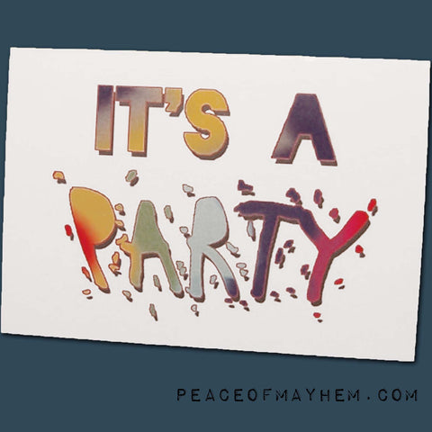 Party Invite Adult 12 Pack