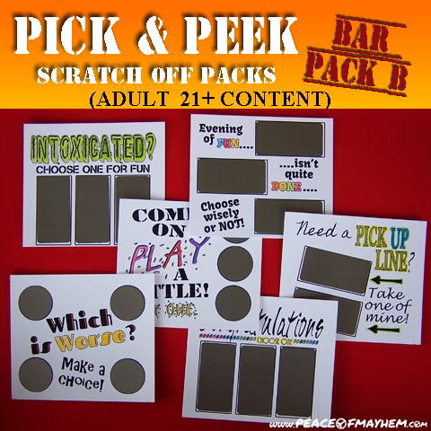 Pick & Peek Bar Pack B