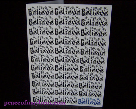 Believe Brick Cell front