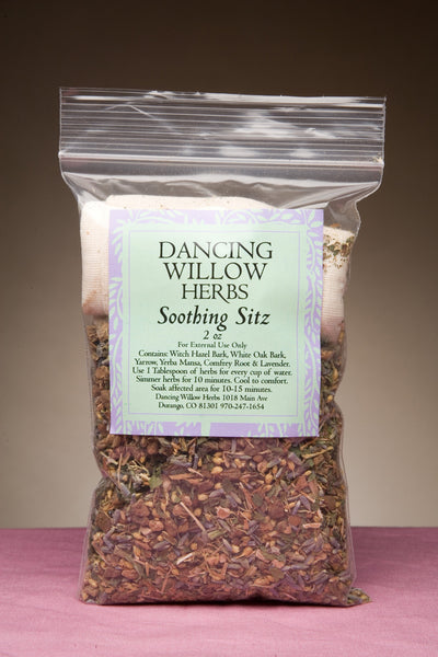 Soothing Sitz Bath - Dancing Willow Herbs sitz bath - herbal formulas