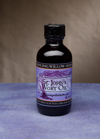St. John's Wort Liniment - Dancing Willow Herbs Liniment - herbal formulas