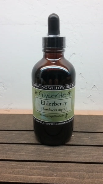 Elderberry Glycerite - Dancing Willow Herbs syrup - herbal formulas