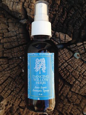 Antiseptic Aromatherapy Room Freshener 4oz Spritzer - Dancing Willow Herbs Room spray - herbal formulas