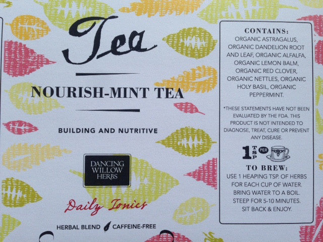 Nourish-Mint Herbal Tea - Dancing Willow Herbs tea - herbal formulas