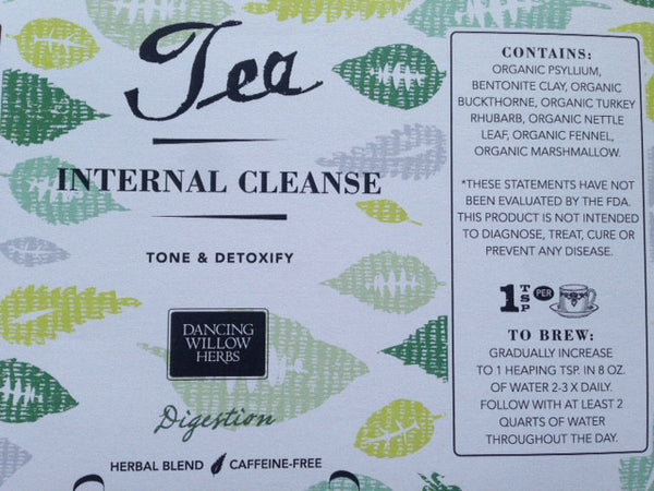 Internal Cleanse Tea - Dancing Willow Herbs herbal tea - herbal formulas