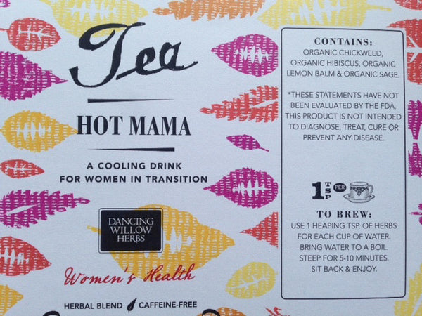 Hot Mama Tea - Dancing Willow Herbs herbal tea - herbal formulas