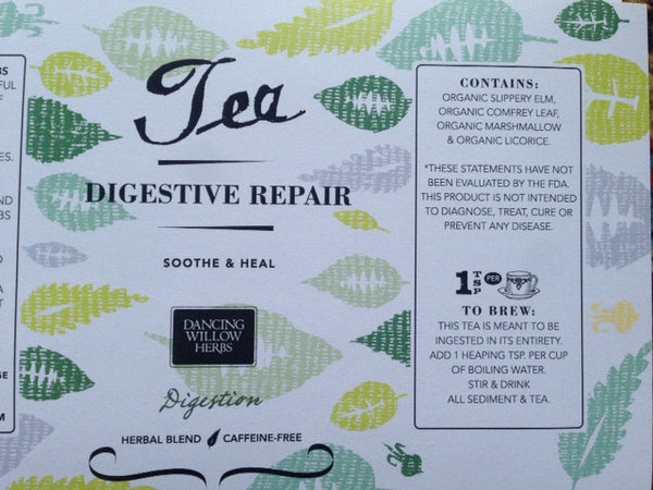 Digestive Repair - Dancing Willow Herbs tea - herbal formulas