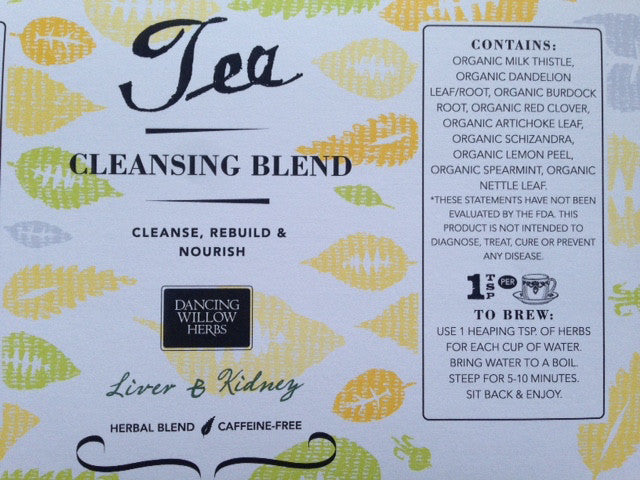 Cleansing Blend - Dancing Willow Herbs herbal tea - herbal formulas