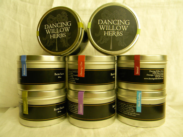 Dancing Willow Luxurious Bath Salts - Dancing Willow Herbs Bath Salts - herbal formulas